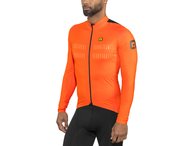 Alé Cycling Clima Protection 2.0 Warm Air Langærmet cykeltrøje Herrer orange | Trøjer
